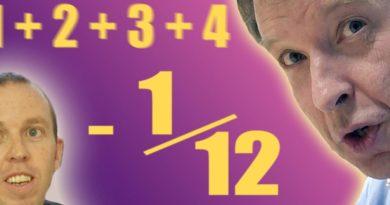 Tüm Doğal Sayıların Şaşırtıcı Toplamı: 1 + 2 + 3 + 4 + 5 + … = -1/12 (Numberphile) | Video