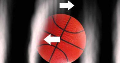 Bir basketbol topu üzerindeki Magnus etkisi