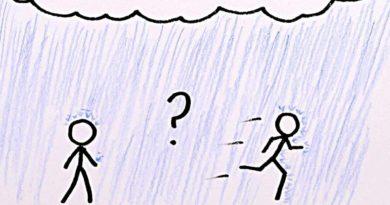 yağmurda yürümek mi yoksa koşmak mı gerekir?